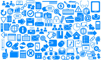 Blue Business Icons.