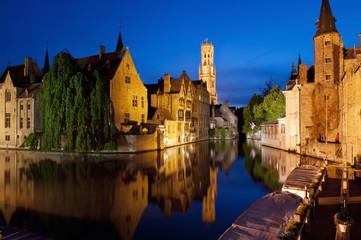 Wall Murals Bridges Rozenhoedkaai in Bruges, Belgium