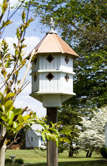 Tall Two-Story Birdhouse