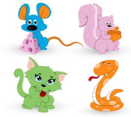 Cute Cartoon Animals