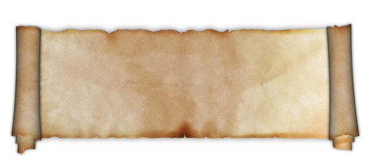 Scroll of ancient parchment.
