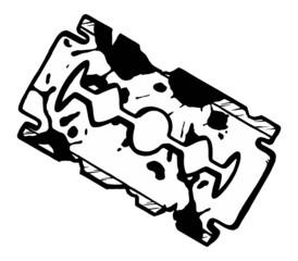 vector Hand drawn grunge razor blade