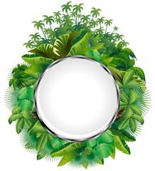 Vegetazione Tropicale-Icona di Cristallo-Tropical Plants Icon