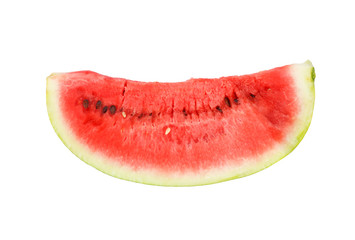 slice of watermelon against white background