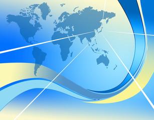 フレームと世界地図