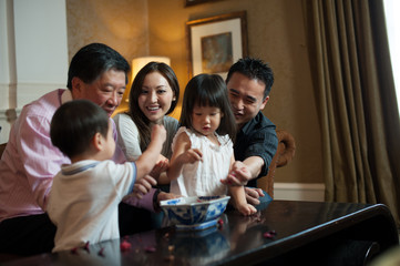Asian Grandparents & Family