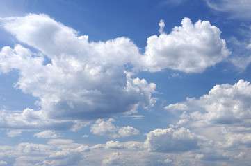 blue sky and clouds as background