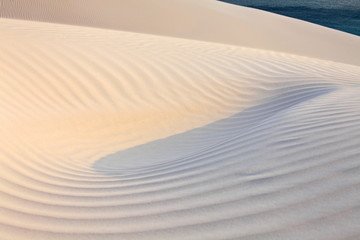 Sand desert surface – white dunes of Socotra island