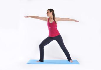 Joven practicando yoga