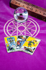 Tarot cards with a magic ball (8).