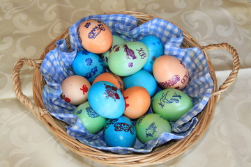 Крашеные яйца - Пасха