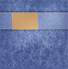 vector blue jeans background. illustration folds background