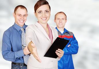 Invitation in business team
