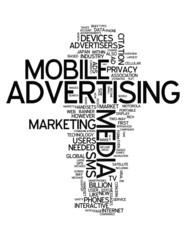 "Word Cloud ""Mobile Advertising"""