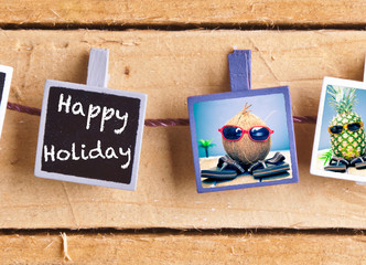 Happy Holiday with fruity friends