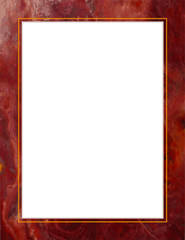 Red Marble Frame, copy space for poster, notice, announcement
