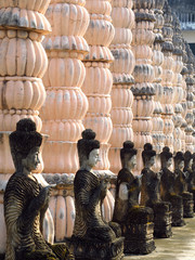 Buddha image arrange in temple