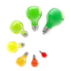 Energy efficiency levels as bulbs