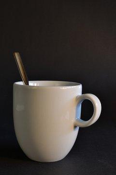 Tasse mit Löffel