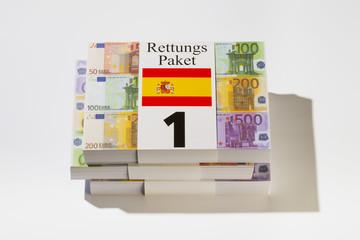 Rettungspaket Nr.1, Milliarden zur Stützung von Spanien