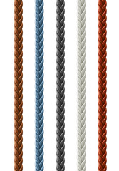 leather seamless braided plait vector illustration isolated on
