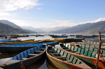 Boats Pokhara lake