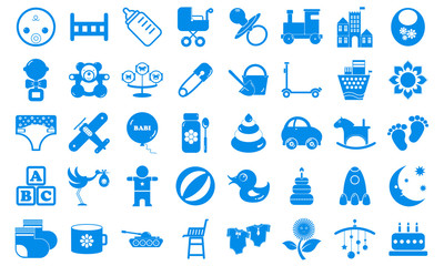 Set child icons blue tones.