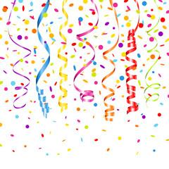 7 Streamers & Confetti 7 Colors Mix