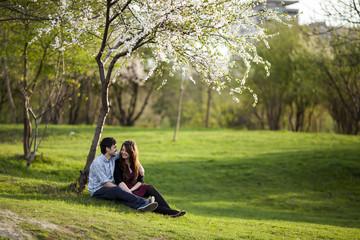 pretty young couple portrait