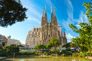 Photo sur Aluminium Barcelone La Sagrada Familia, Barcelona, spain.