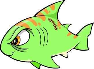 Tough Shark Illustration