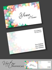 Business card template or visiting card set. EPS 10. Vector illu