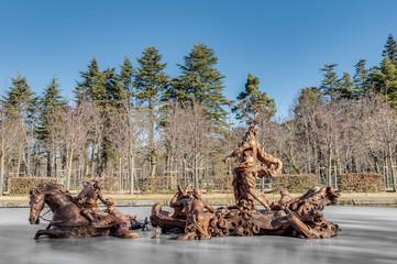 Horse Race fountain at La Granja Palace, Spain
