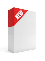 New box 3d render illustration