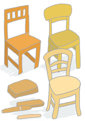 いろいろな椅子、様々な座り心地