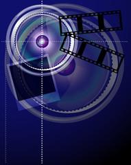 Blue Lens background