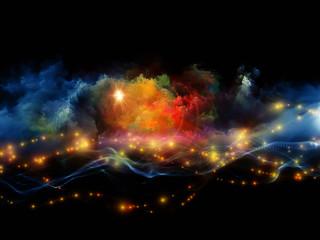 Vibrant fractal foam