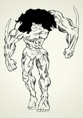 Sketch illustration of a mutant