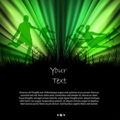 Soccer grunge poster