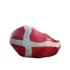 denmark deflated soccer ball