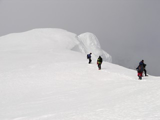 Ascent to the top of volcano Beerenberg on Jan Mayen
