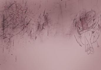 Romantic framed background