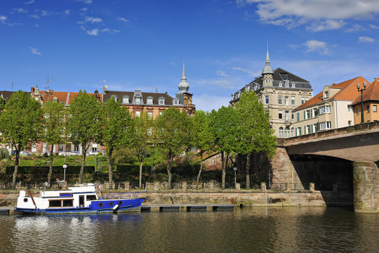 City of Sarreguemines on the river Saar