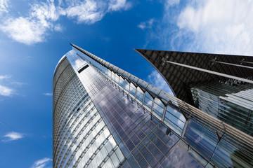 Fotobehang Aan het plafond Skyscraper Architecture