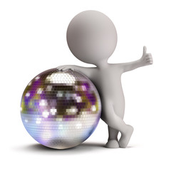 3d small people - disco ball