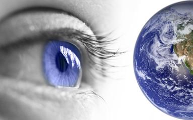 Oeil et planète terre
