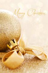 Weihnachtskarte mit Schriftzug