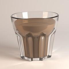 3d render of beverage in glass