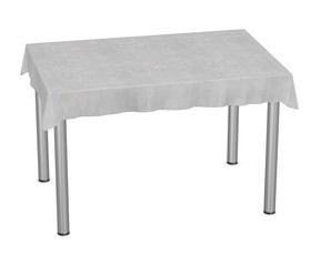 3d render of table with tablecloth