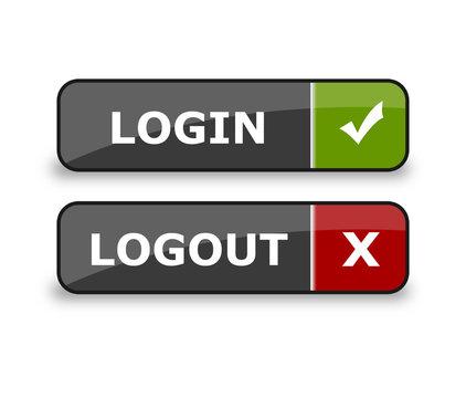 Login & Logout Webbuttons